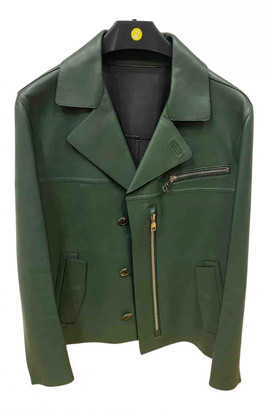 Salvatore Ferragamo Green Leather Jackets