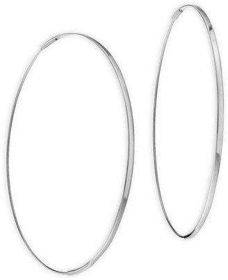 Lana 14K White Gold Hoop Earrings