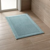 Crate & Barrel Westport Teal Bath Rug