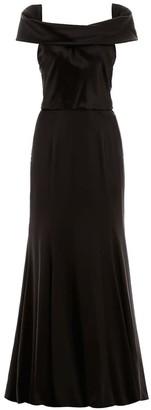 Dolce & Gabbana LONG SATIN DRESS 42 Black Silk