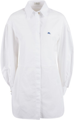 Etro Long Length Logo Shirt