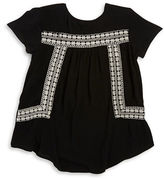 Dex Embroidered Peasant Top