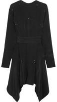 Isabel Marant Orleanne Studded Silk Crepe De Chine Dress - Black