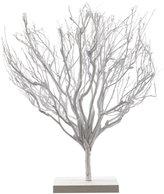Decoris Tea Branch Tree on Aspen Wood Base - White