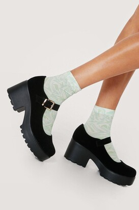 Nasty Gal Womens Kickstart Your Day Chunky Mary Jane Shoes - Black - 5, Black