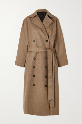 Totême Terlago Oversized Belted Wool-blend Coat - Beige