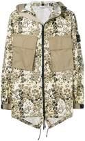 Stone Island alligator camouflage hooded coat