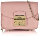 Furla Metropolis Moonstone Leather Mini Crossbody Bag