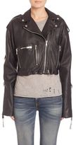 R 13 Sac Leather Moto Jacket