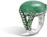 John Hardy Classic Chain Celestial Orb Ring, Silver, 24x18MM Gemstone