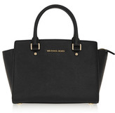 MICHAEL Michael Kors Selma Medium Textured-leather Tote - Black
