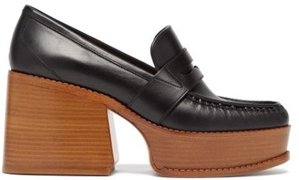 Gabriela Hearst Augusta Leather Penny Loafers - Black