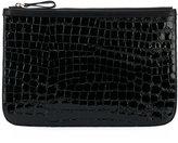 Pierre Hardy crocodile effect clutch - women - Calf Leather/Deer Skin - One Size