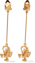 Valentino Scorpio gold-plated earrings