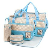 Baby Lovess Baby Diaper Bag Tote Bags 5pc Set