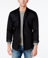 American Rag Men's Lined Shirt Jacket with Sherpa Lining, Only at Macy's