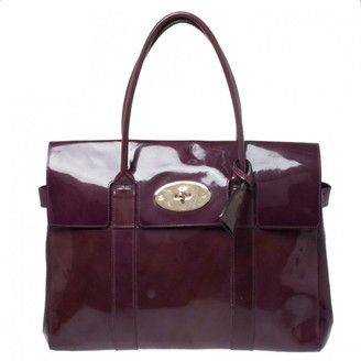 Mulberry Bayswater Purple Patent leather Handbags