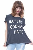 Local Celebrity Haters Schiffer Tee in Black