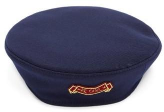 Ruslan Baginskiy Rb Girl Logo-patch Canvas Beret - Navy
