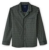 Lands' End Men's Classic Fit Broadcloth Pajama Shirt-Navigator Blue Mini Stripe