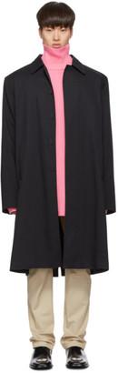 Balenciaga Navy Cotton Twill Car Coat