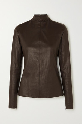Bottega Veneta Leather Top - Brown