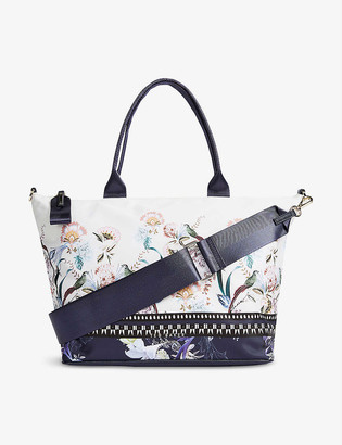 Ted Baker Darya Decadence cotton-woven small tote