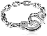 King Baby Studio Handcuff Clasp Silver Bracelet