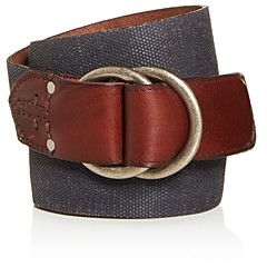Frye Men's O-Ring Buckle Canvas Belt