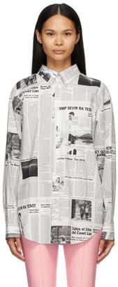 Balenciaga Black and White Happy News Double Front Shirt