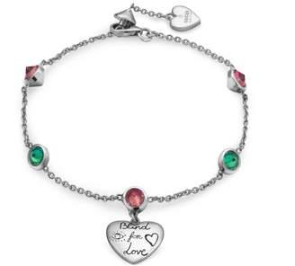 Gucci Blind for Love bracelet in silver