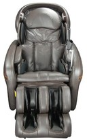 Reclining Adjustable Width Heated Massage Chair Osaki Upholstery: Brown