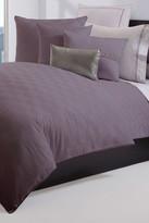 HUGO BOSS Elegante Silk Border 350 Thread Count Plum Comforter - Full/Queen