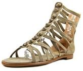 Kensie Macklin Women Open Toe Synthetic Tan Gladiator Sandal.
