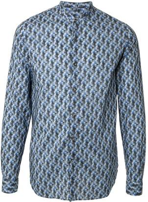 Giorgio Armani Abstract-Print Band-Collar Shirt