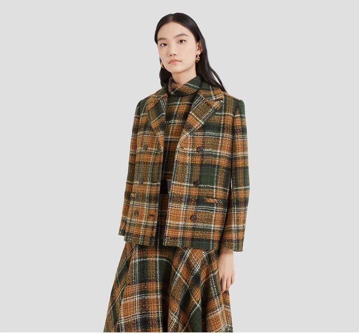 Mulberry Beatrix Jacket Green Tweed Check