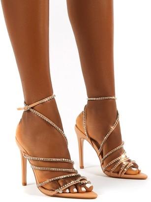 Public Desire Uk Starstruck Diamante Strappy Stiletto Heels