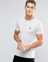 Asos Extreme Muscle T-Shirt With Embroidery In Beige