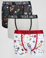 Ecko 3 Pack Printed Trunks