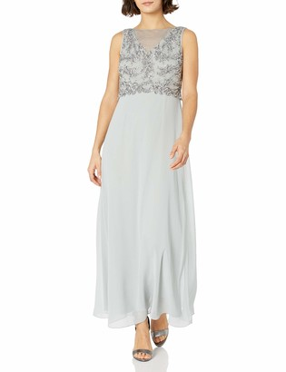 Adrianna Papell Women's Long Gown with Beaded Bodice Petite