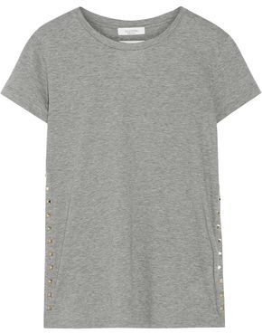 Valentino Studded Cotton-jersey T-shirt