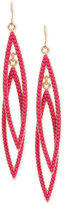 INC International Concepts M. Haskell for Gold-Tone Colored Bead Drop Earrings, Only at Macy's
