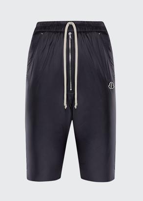 Moncler + Rick Owens Loose-Fit Nylon Bermuda Shorts