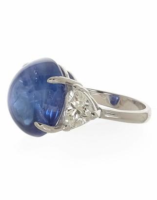 Fred Leighton Cabochon Ceylon Sapphire and Diamond Ring