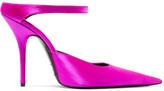 Balenciaga Satin Mules - Pink