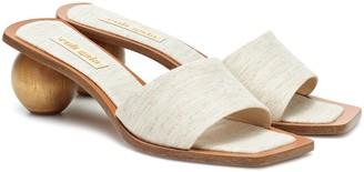 Cult Gaia Tao linen and wood sandals