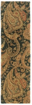 "Oriental Weavers Huntley 19104 Black/Gold 2'3"" x 8' Runner Area Rug"