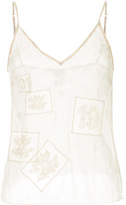 Chanel Pre-Owned CC sleeveless camisole top
