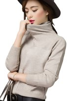 Pink Queen Women's Turtleneck Cashmere Pullover Knit Sweater S