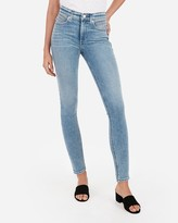 Express High Waisted Pocket Detail Jean Ankle Leggings
